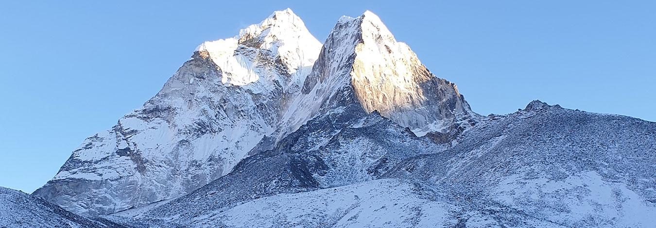 Amadablam view from Dingbochea village