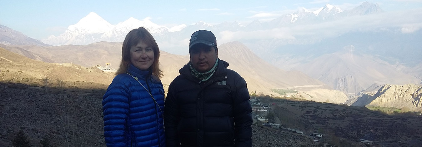 Mountains view from Muktinath temple