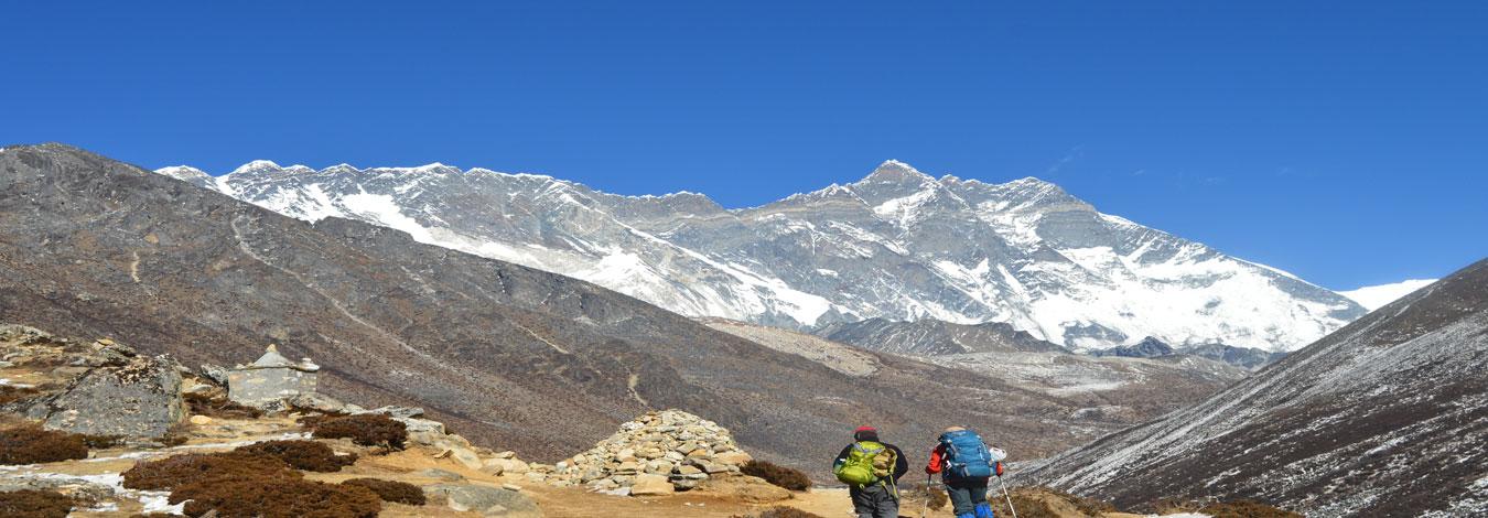 Everest range from Pangboche