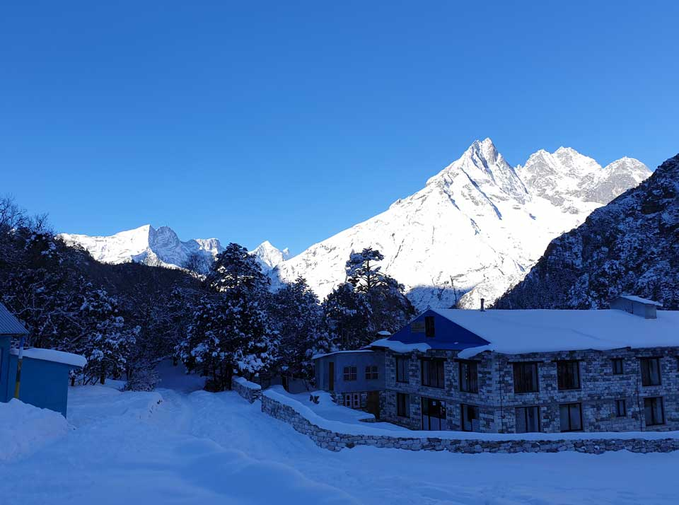 Teahouse on Everest base camp trek